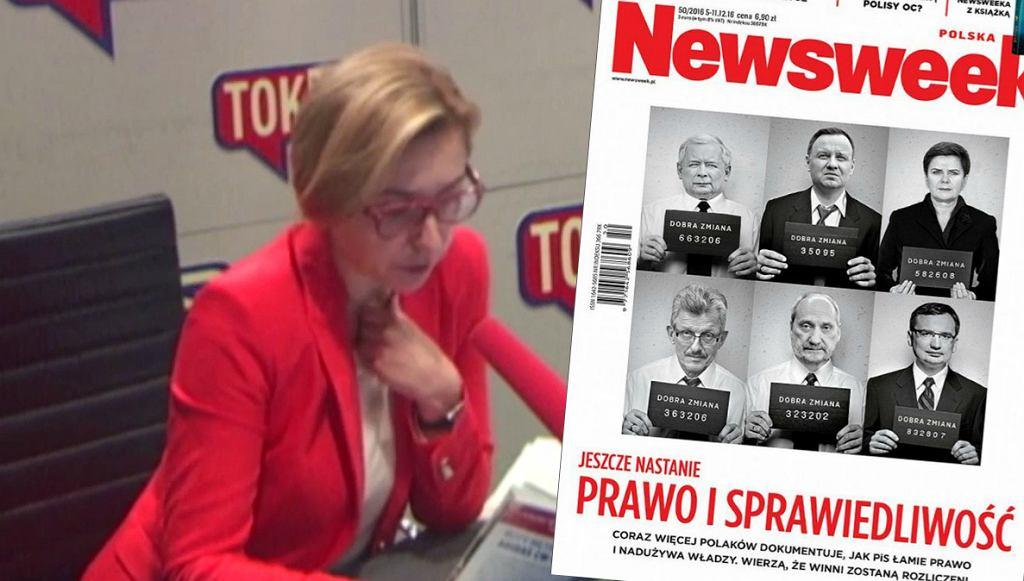 Dominika Wielowieyska i okładka 'Newsweeka'