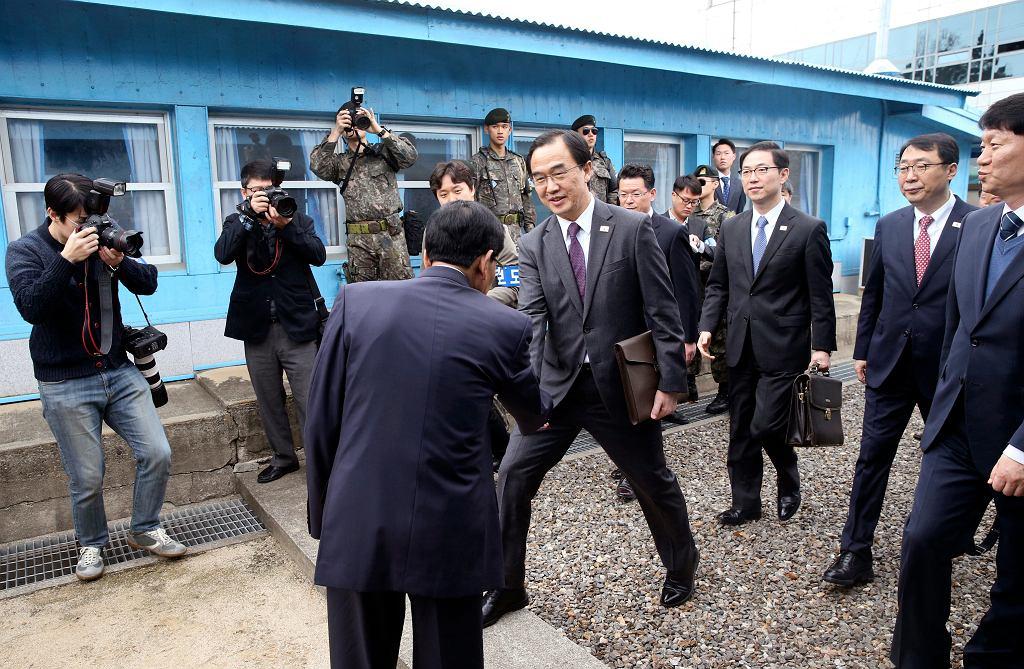 Spotkanie dyplomatów z Korei Północnej i Korei Południowej