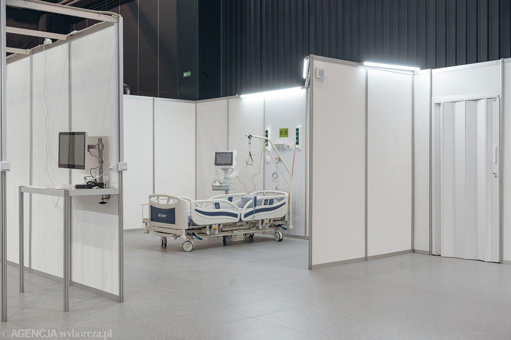 Szpital tymczasowy na terenie Międzynarodowych Targów Gdańskich AmberExpo