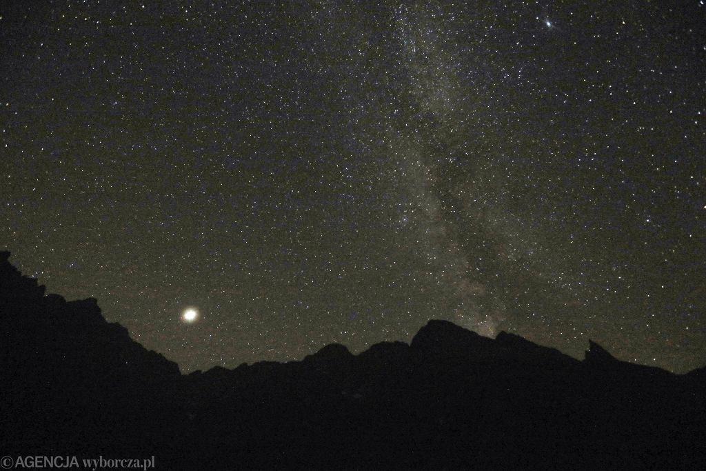 Droga Mleczna nocą z 12 na 13 sierpnia w Tatrach