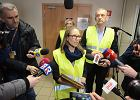 Anna Zając i prezes ZNP Sławomir Broniarz przed spotkaniem z minister Anną Zalewską