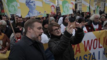 Adrian Zandberg na Marszu Antyfaszystowskim
