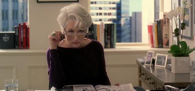 Meryl Streep w 'Diabeł ubiera się u Prady'