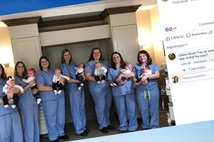 """""""Zaraźliwa"""" ciąża w szpitalu: siedem pielęgniarek i położna zostało mamami w podobnym czasie"""