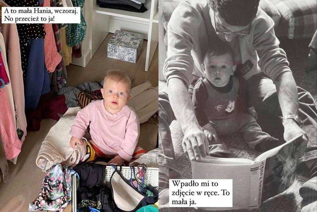 Natalia Klimas porównała swoje zdjęcie z przeszłości, ze zdjęciem młodszej córki