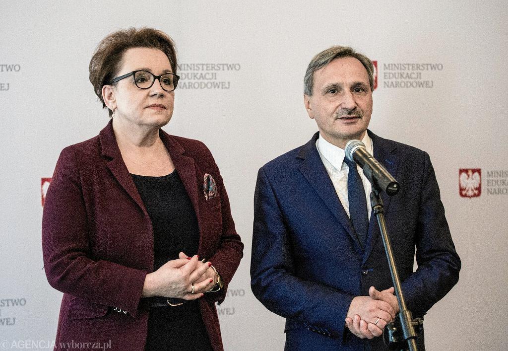 Szefowa MEN Anna Zalewska i jej zastępca Maciej Kopeć