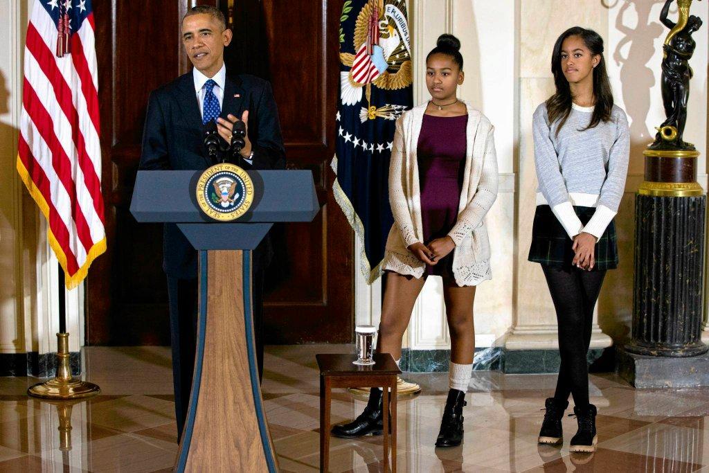 Strój córek Obamy podczas oficjalnego spotkania wzbudził kontrowersje