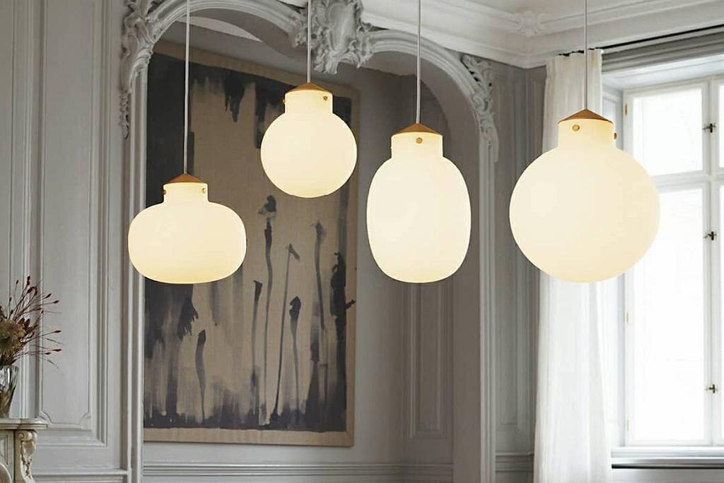 Lampy w stylu skandynawskim.