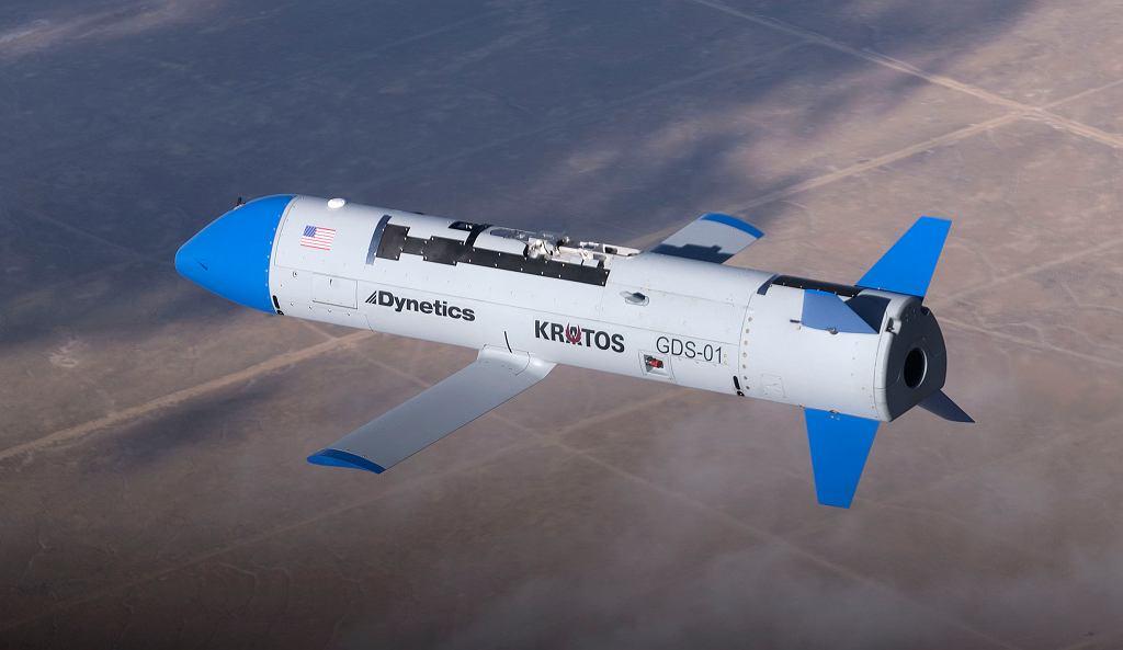 Dynetics X-61A podczas dziewiczego lotu 23 listopada 2019 r.