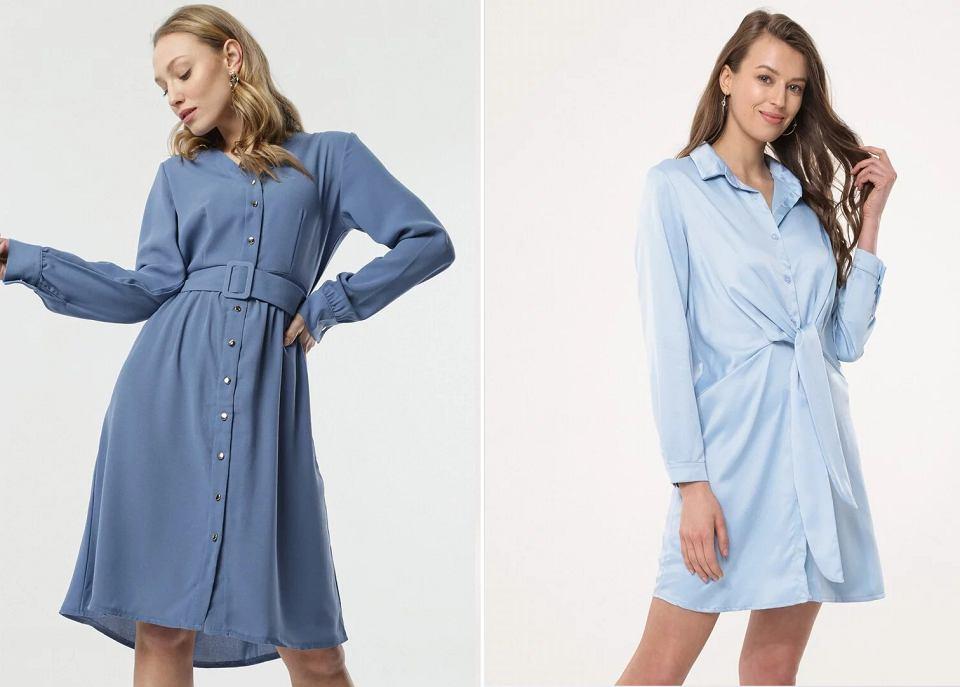 Sukienki w kolorze baby blue