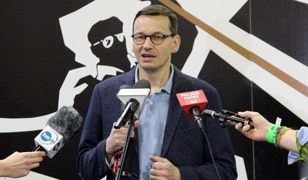 Mateusz Morawiecki na hackathonie w Krakowie