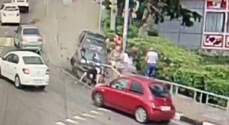 Wypadek w Soczi. Kierowca wjechał w ludzi