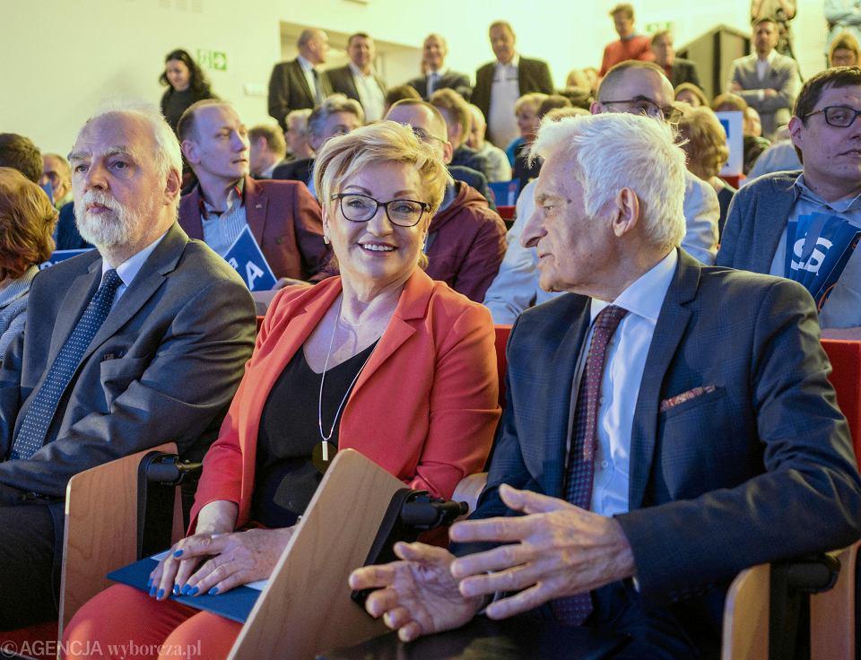 Jan Olbrycht, Mirosław Nykiel i Jerzy Buzek w Zagłębiowskiej Mediatece w Sosnowcu