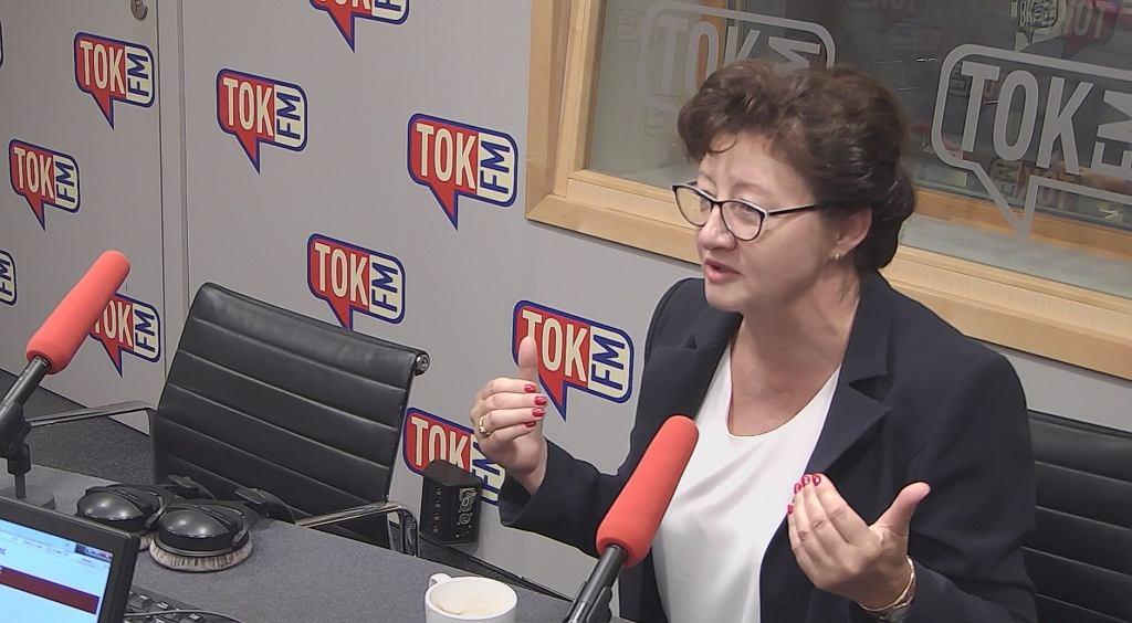 Dorota Gardias w studiu TOK FM