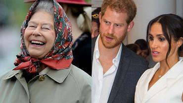 Elżbieta II, książę Harry, Meghan Markle