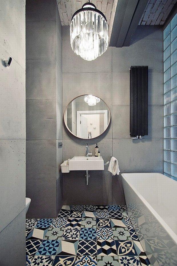 Loft, łazienka, styl loftowy