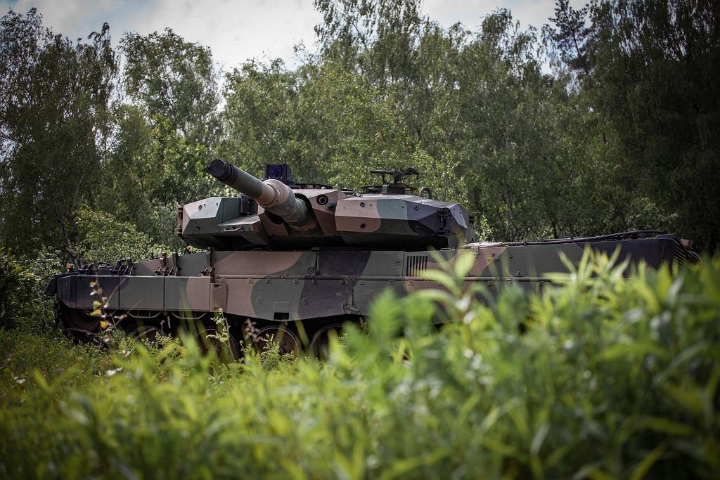 Czołg Leopard 2PL podczas prób