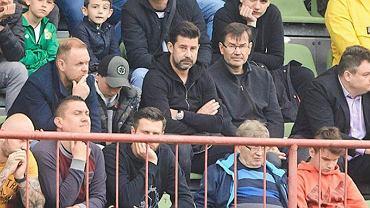 Szefowie Widzewa. Na zdjęciu m.in. Jakub Kaczorowski, Łukasz Masłowski, Tomasz Stamirowski, Remigiusz Brzeziński i Tomasz Jędraszczyk.