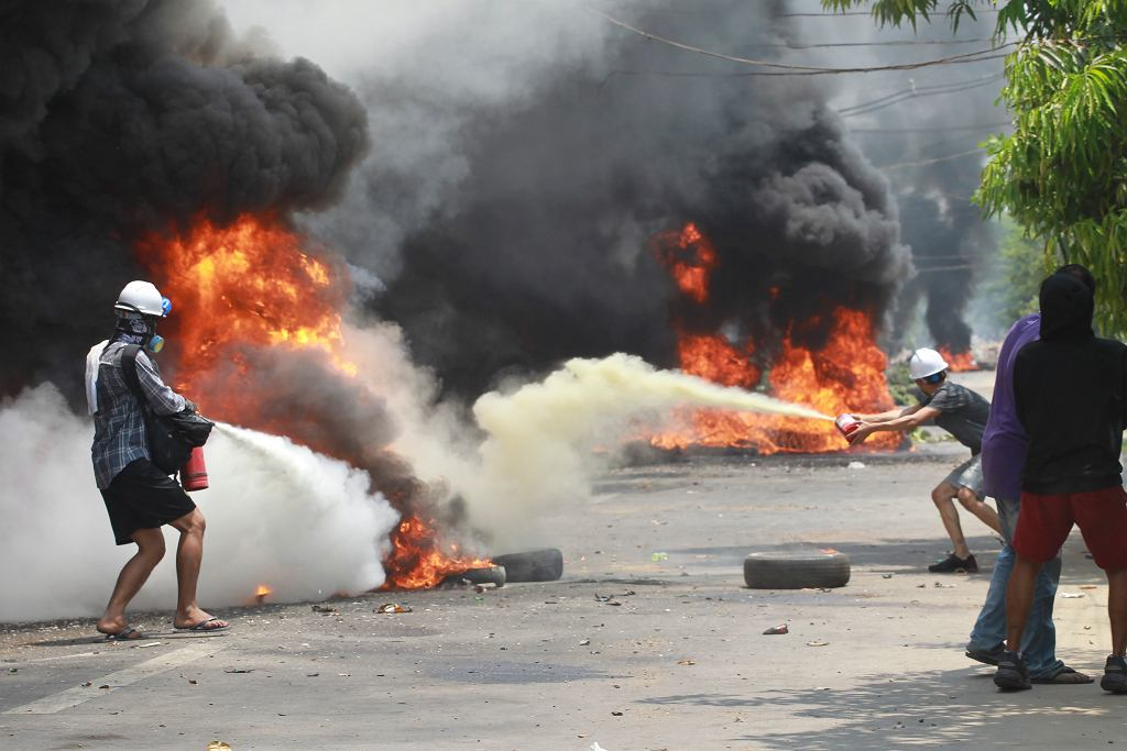 Mjanma. Prostesty przeciwko wojskowej juncie, która od lutego rządzi krajem