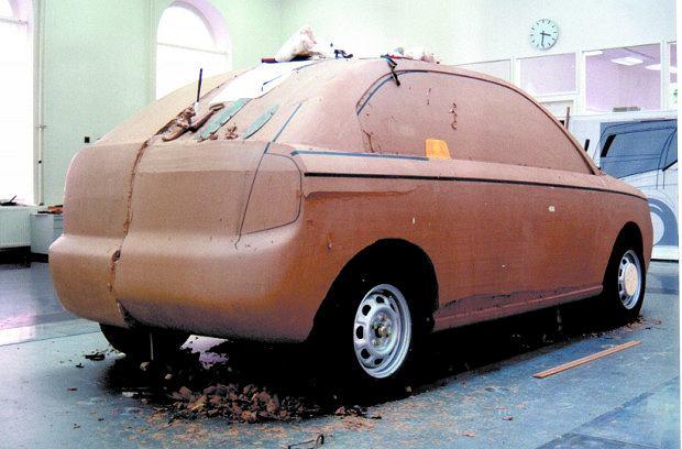 Skoda Fabia - model z gliny