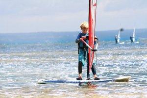 Windsurfing z dzieckiem