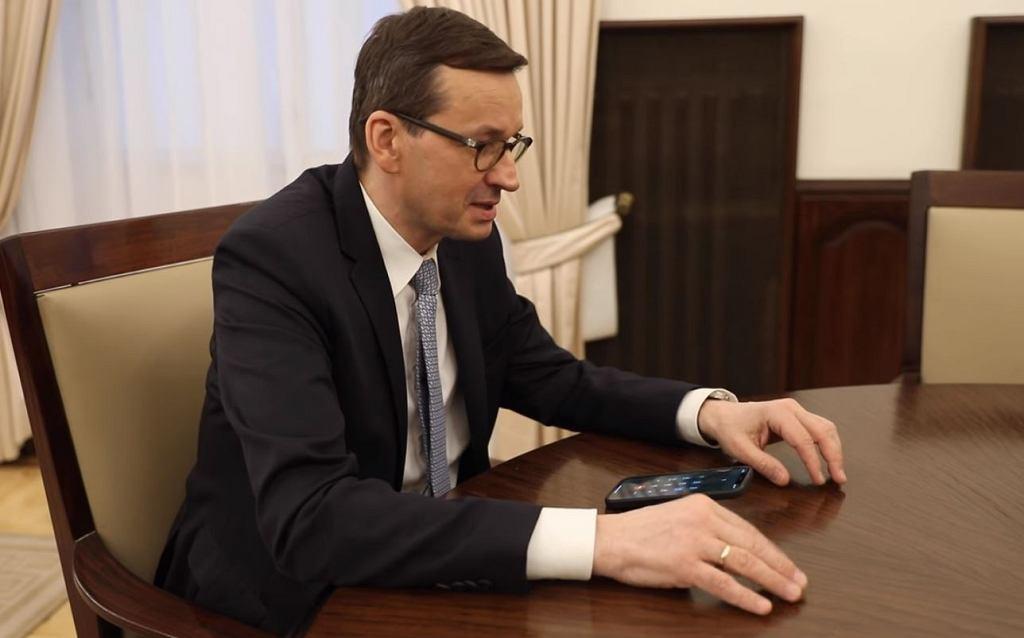 Premier Mateusz Morawiecki zarejestrował się na szczepienie przeciwko koronawirusowi