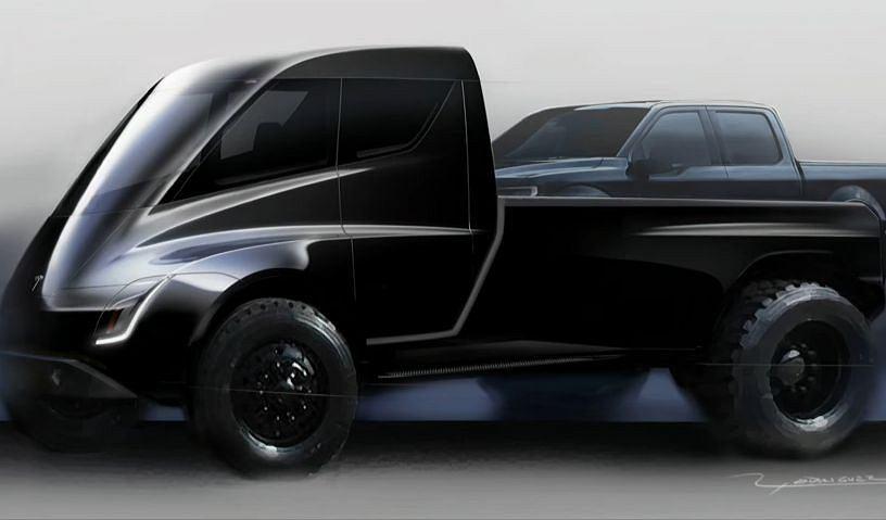 Pickup Tesla - szkic koncepcyjny