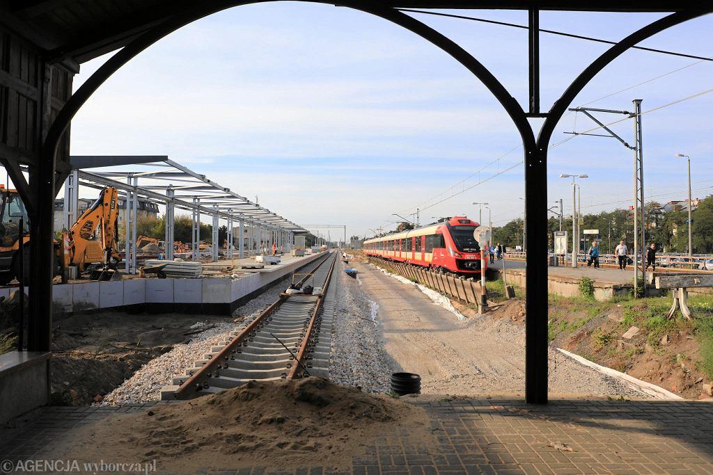 Modernizacja linii Warszawa - Lublin. Na zdjęciu stacja Otwock