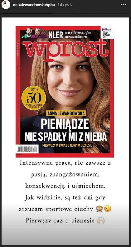 Anna Lewandowska jedną z najbogatszych Polek według rankingu 'Wprost'. Jaki ma majątek?