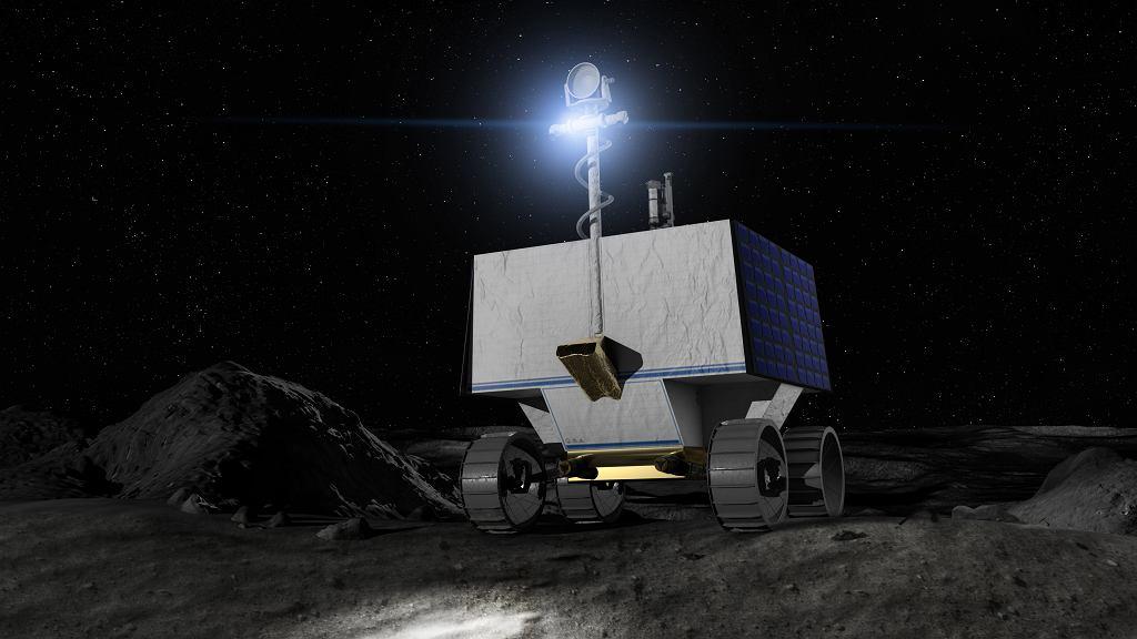 Łazik VIPER na Księżycu - ilustracja