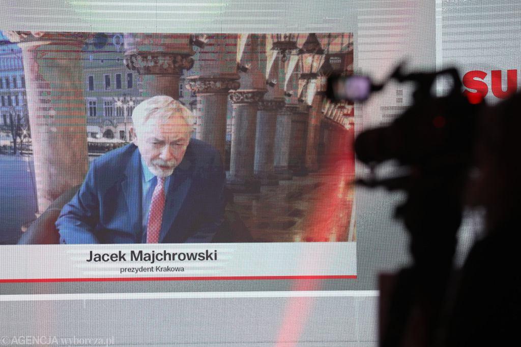 Jacek Majchrowski, prezydent Krakowa podczas debaty samorządowców na Gali Supermiast