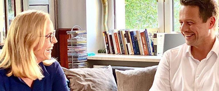 Rafał Trzaskowski i jego żona wpuścili internautów do  mieszkania