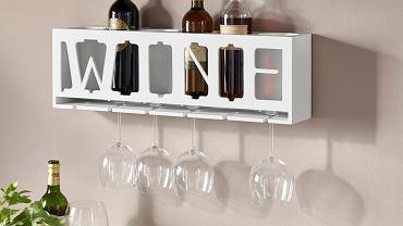 Stylowa półka na wino