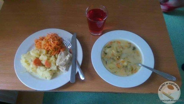 """Internauci chwalą olsztyński szpital za... posiłki. ?To nie żart. To obiad"""""""