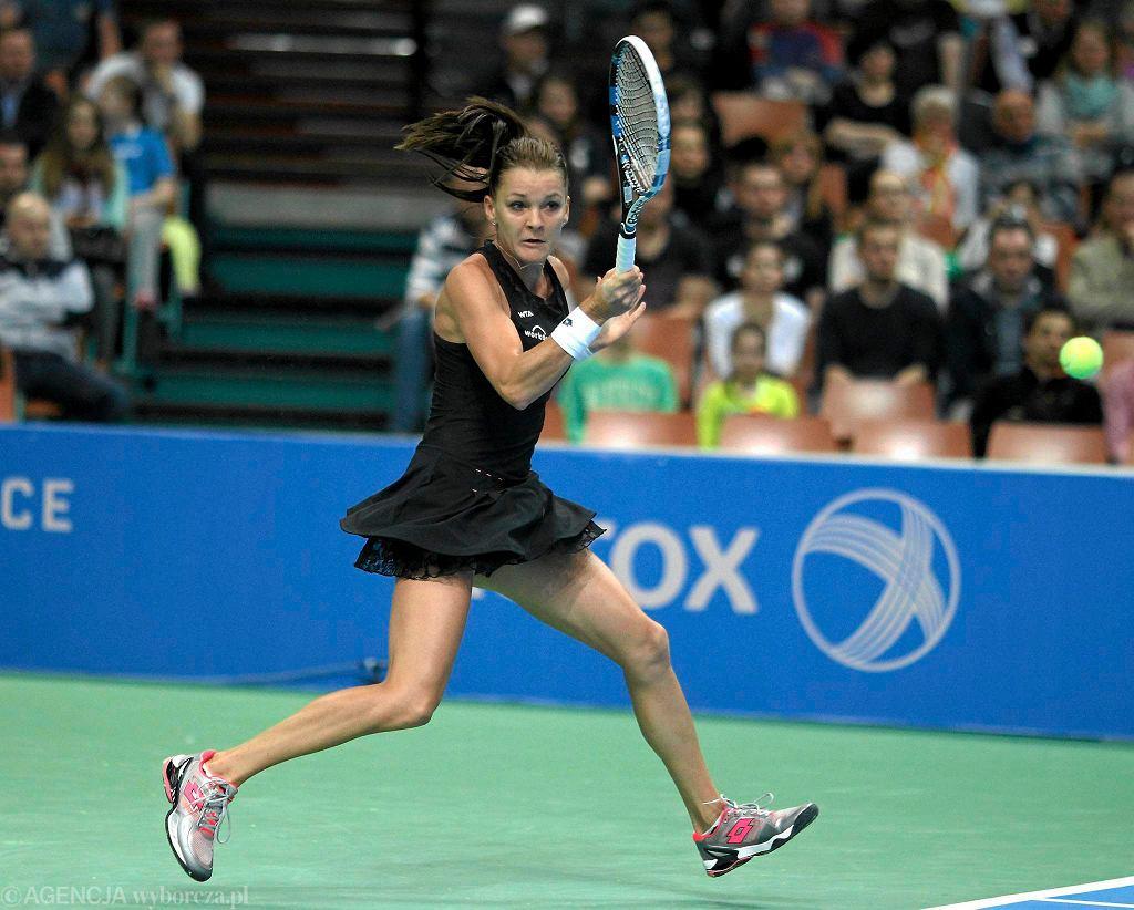 Agnieszka Radwańska w meczu z An-Sophie Mestach