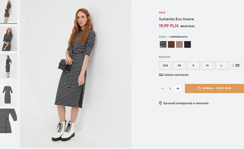 Sinsay sukienka midi na lato