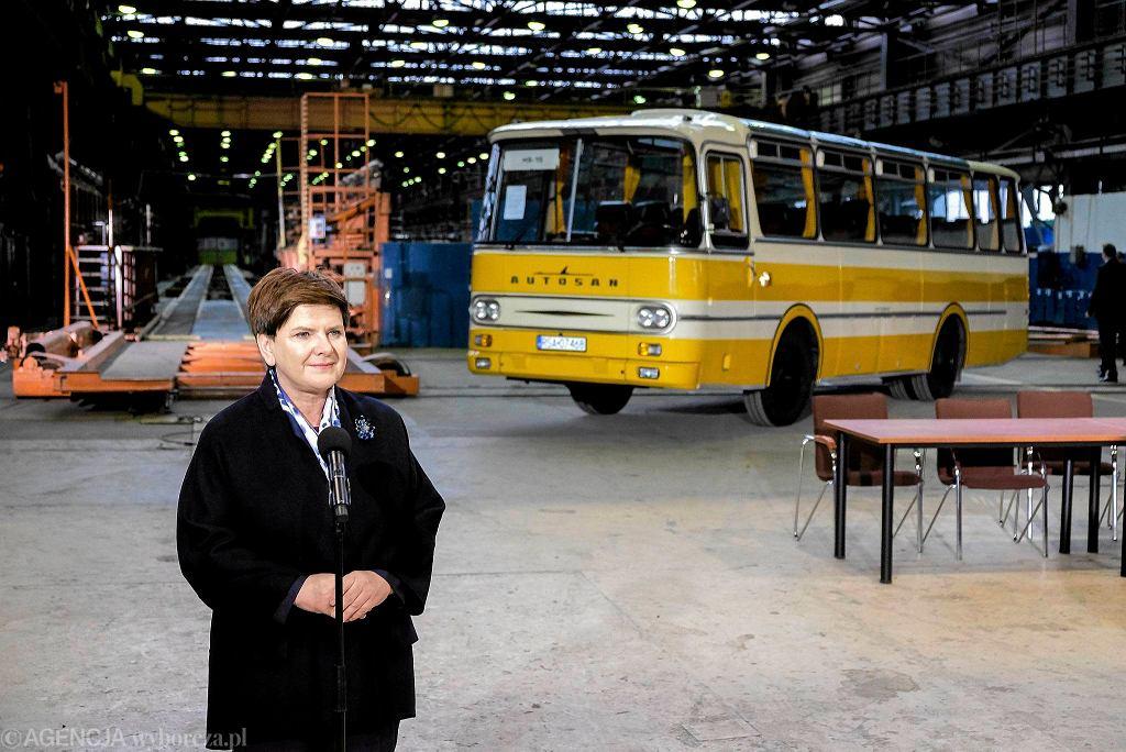 Premier Beata Szydło w Sanoku