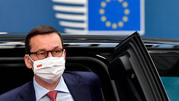 Mateusz Morawiecki podczas szczytu UE. Bruksela, 19 lipca 2020