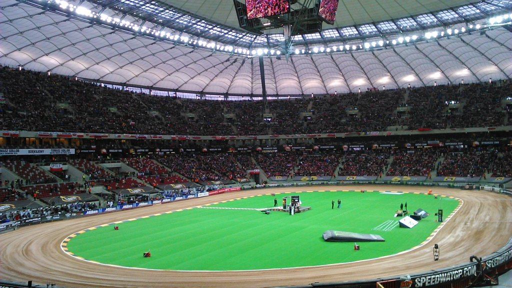 Żużel. Grand Prix na Stadionie Narodowym w Warszawie.