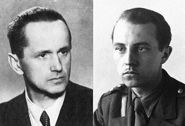 Od lewej: Kazimierz Moczarski 'Wolski' (1907-75), Jan Rodowicz 'Anoda' (1923-49)