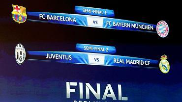 Barcelona - Bayern, Juventus - Real