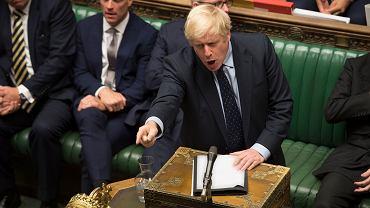Boris Johnson (na zdjęciu) przegrał historyczne głosowanie - twierdzi brytyjska prasa. Londyn, Izba Gmin, 3 września 2019