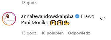 Anna Lewandowska komentuje kondycję Moniki Olejnik