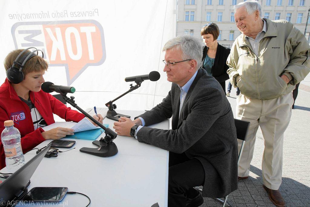 Jacek Jaśkowiak w Radiu TOK FM na placu Wolności