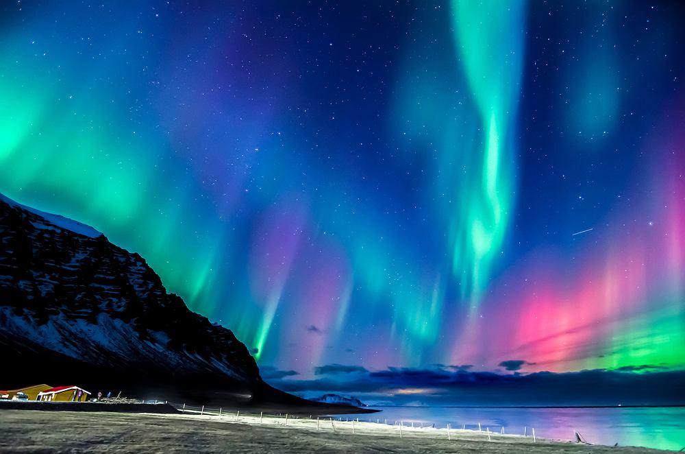 Zimą na Islandii doskonale widać zorzę polarną