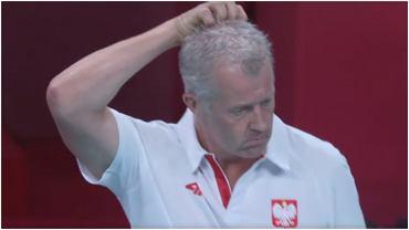 Vital Heynen podczas meczu Polska - Iran, IO Tokio, siatkówka