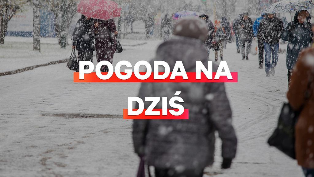 Pogoda na dziś - czwartek 13 grudnia. Czekają nas liczne opady śniegu