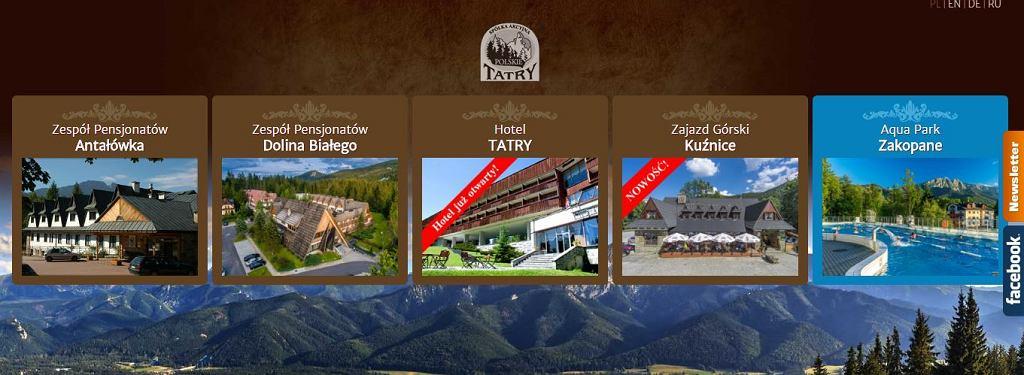 Spółka Polskie Tatry jest właścicielem wielu obiektów