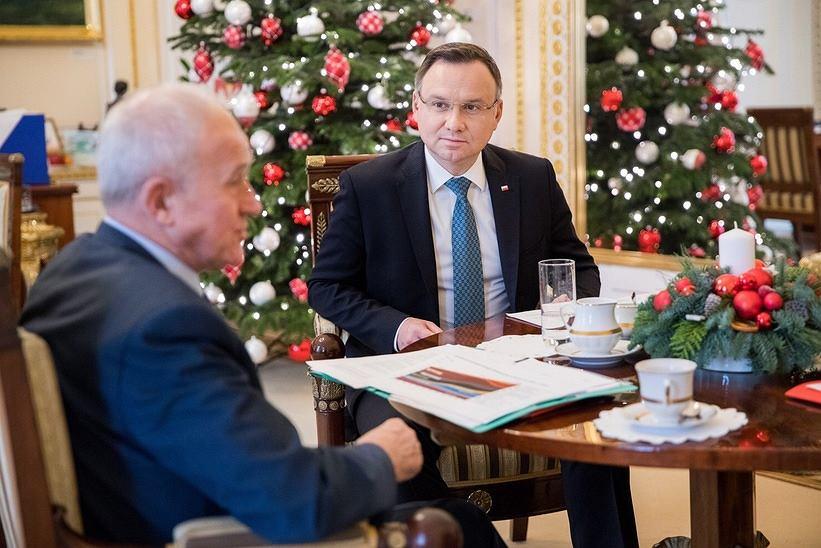 Prezydent Andrzej Duda spotkał się z ministrem energii Krzysztofem Tchórzewskim