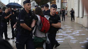 Protest w obronie wolnych mediów w Warszawie